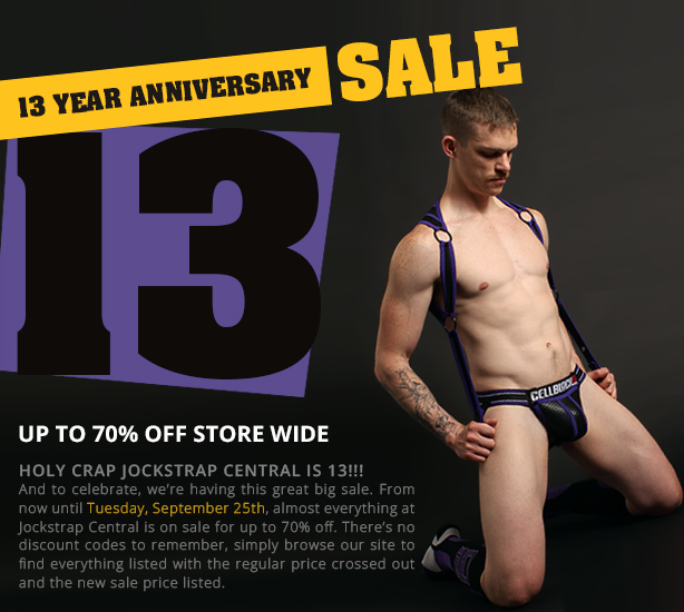 Jockstrap Central 13th Anniversary Sale