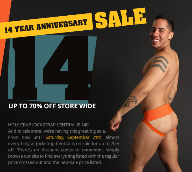 Jockstrap Central 14 Year Anniversary Sale