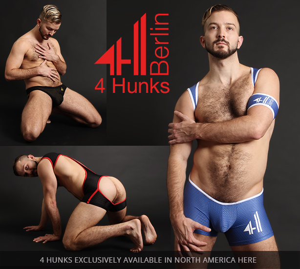 4 Hunks Sport Fetish Wear from Berlin