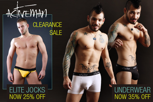 Activeman Elite Jockstrap and Underwear Clearance Sale