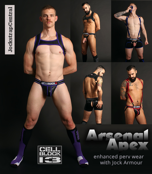 Cellblock 13 Aresenal and Apex Jocks Trunks Harnesses and Socks