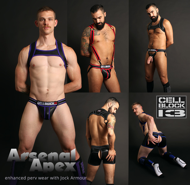 Cellblock 13 Arsenal and Apex Jocks, Shorts, Harnesses and Socks