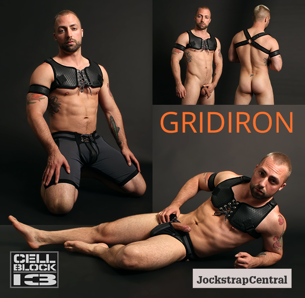 Cellblock 13 Gridiron Jocks, Shorts and Harnesses are Here