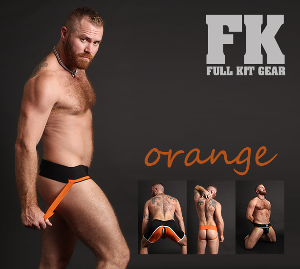 Full Kit Gear - Orange Jockstraps and Service Shorts