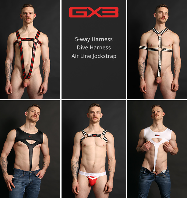 GX3 Jockstraps and Harnesses