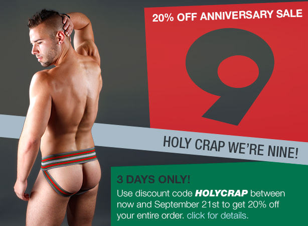 20% Off Ninth Anniversary Sale