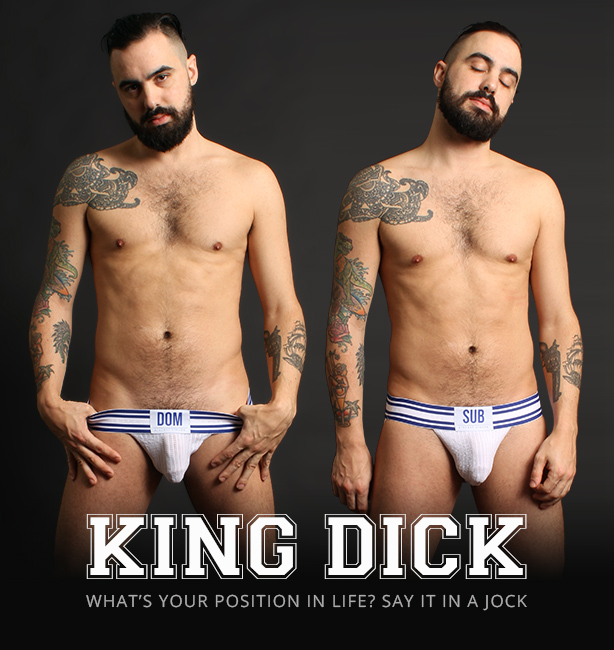 KING DICK Dominant/Submissive Sports Jockstrapa