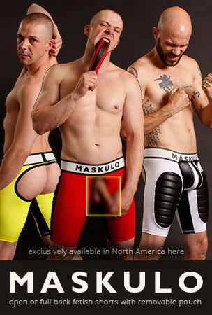 Maskulo Fetish Shorts - Exclusively in North American at Jockstrap Central