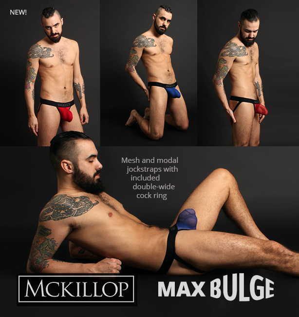 McKillop Max Bulge Jockstraps - mesh and solid