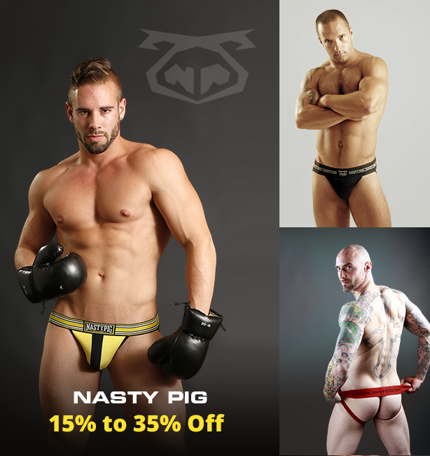 Nasty Pig Champ Jockstraps and Briefs Clearance