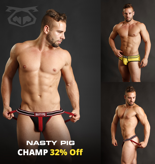 Nasty Pig Champ Jockstraps and Breifs Clearance