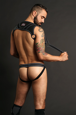 Andrew is Cellblock 13 Arsenal Jockstrap and Harness