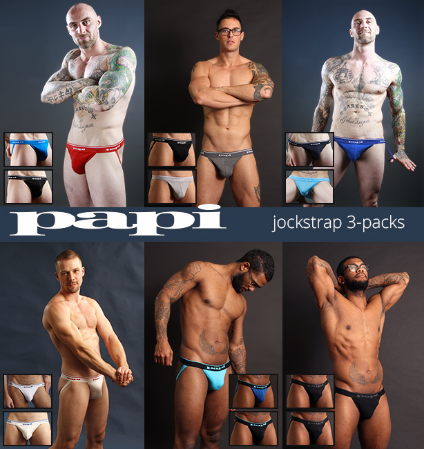 Papi Jockstrap 3-packs