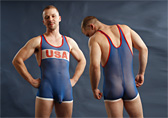 Pulse Sheer Wrestling Singlet - USA Detail 1