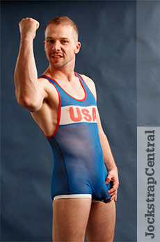 Pulse Sheer Wrestling Singlet - USA