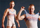 Pulse Sheer Wrestling Singlet - Australia Detail 1