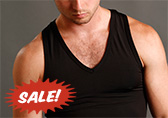 Blue Line Racerback V-neck Tank Top