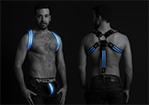 Breedwell Glow Suspenders / Harness  Detail 2