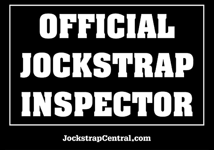 Jockstrap Central Official Jockstrap Inspector T-Shirt Detail Photo