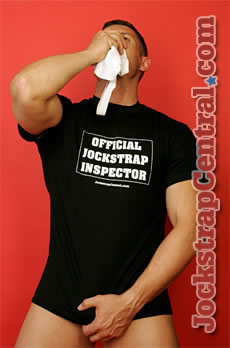 Jockstrap Central Official Jockstrap Inspector T-Shirt