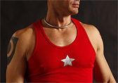 Jockstrap Central Star Ribbed Tank Top Detail 1