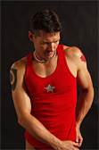 Jockstrap Central Star Ribbed Tank Top