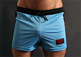 Jack Adams Air Mesh Gym Shorts Detail 1