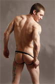 Male Power Voodoo Skull Sheer Jockstrap
