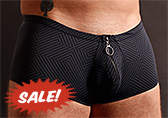 Male Power Radical Sport Zipper Short