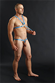 Male Power Rip Off Harness Set with Cock Ring