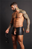 Male Power Poseidon Chaps Short with Rip-off Thong