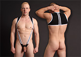 CellBlock 13 X-treme Hybrid Harness with Cock Ring Detail 1