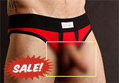 Sukrew Red/Black UV Brief (Jockstrap)