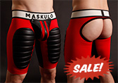Maskulo Open Back Football Short w/ Cod Piece