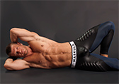 Maskulo Open Back Leggings with Easy Access Cod Piece Detail 2