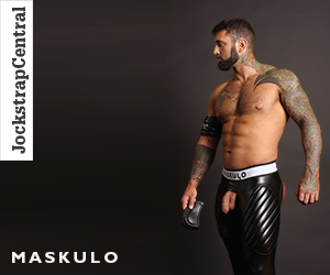 Maskulo Open Back Leggings with Removable Cod Piece