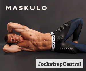 Maskulo Open Back leggings with Cod Piece