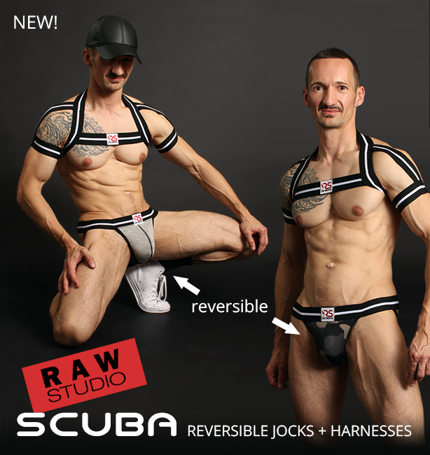 Raw Studio Scuba Reversible Jockstraps plus Harnesses