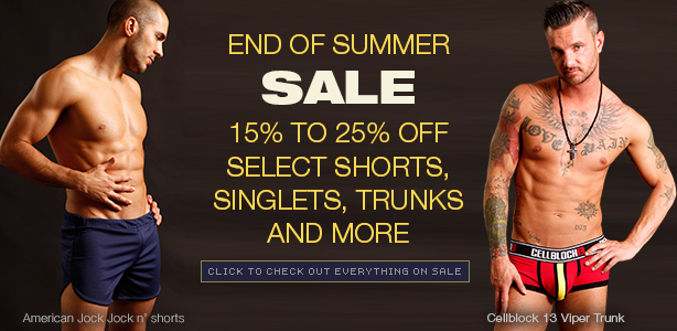 Summer End Sale - up to 25% off select shorts, singlets and more
